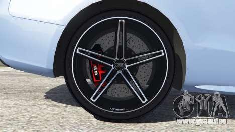 GTA 5 Audi S5 Coupe arrière droit vue de côté
