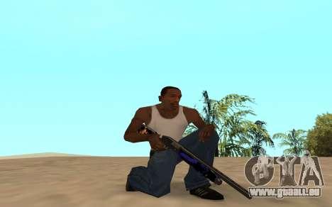 Fusil de chasse avec un bébé tigre pour GTA San Andreas quatrième écran