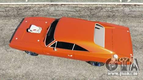 GTA 5 Dodge Charger 1970 Fast & Furious 7 vue arrière