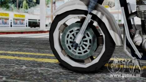 Bike Cop from Bully für GTA San Andreas zurück linke Ansicht