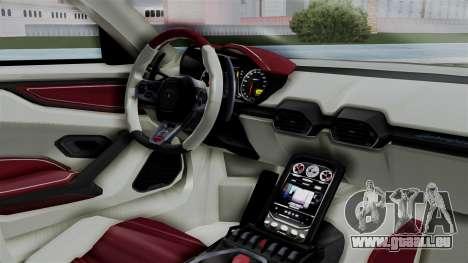 Lamborghini Asterion Concept 2015 v2 für GTA San Andreas rechten Ansicht