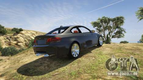 GTA 5 BMW M3 E92 Performance Kit [Beta] 0.1 hinten links Seitenansicht