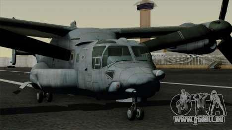 MV-22 Osprey pour GTA San Andreas vue de droite