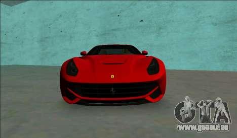 Ferrari F12 Berlinetta für GTA Vice City rechten Ansicht