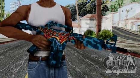 M4A1-S Master Piese pour GTA San Andreas troisième écran