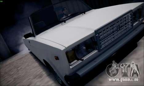 VAZ 2107 limousine pour GTA San Andreas sur la vue arrière gauche