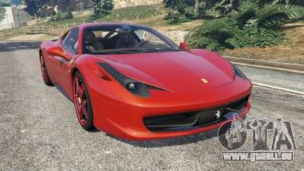 Ferrari 458 Italia 2009 v1.3 pour GTA 5