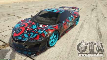 Dinka Jester (voiture de Course) Autocollant de Bombardement для GTA 5 pour GTA 5