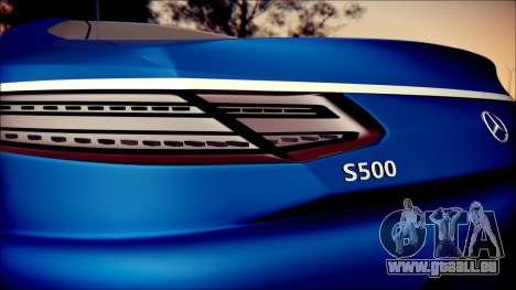 Mercedes-Benz S Coupe Vossen cv5 2014 pour GTA San Andreas vue intérieure