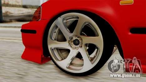 Honda Civic Sedan pour GTA San Andreas sur la vue arrière gauche
