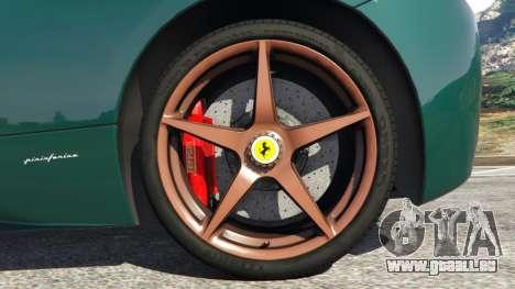 GTA 5 Ferrari 458 Italia 2009 v1.5 hinten rechts