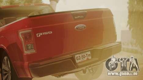 Ford F-150 2015 Stock pour GTA San Andreas vue de droite