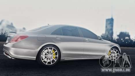 Mercedes-Benz W222 S63 AMG für GTA San Andreas Rückansicht