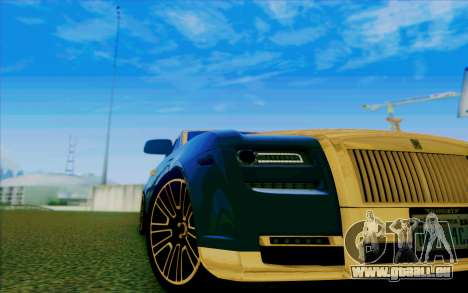 Rolls-Royce Ghost Mansory für GTA San Andreas obere Ansicht