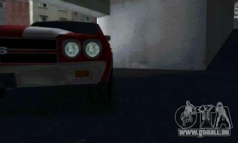 Chevrolet Chevelle SS [Winter] für GTA San Andreas zurück linke Ansicht