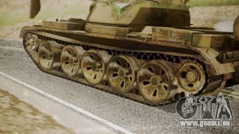 T-55 für GTA San Andreas zurück linke Ansicht