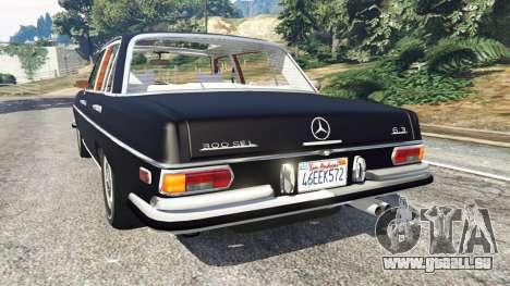 GTA 5 Mercedes-Benz 300SEL 6.3 v1.2.3 hinten links Seitenansicht
