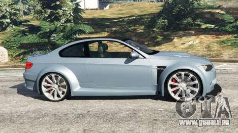 GTA 5 BMW M3 (E92) WideBody v1.0 linke Seitenansicht