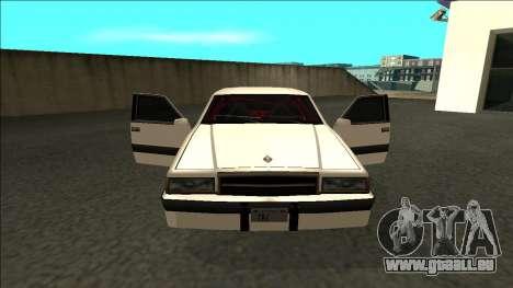 Willard Drift pour GTA San Andreas vue intérieure
