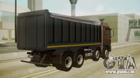 MAN TGS 8x4 Dumper pour GTA San Andreas laissé vue