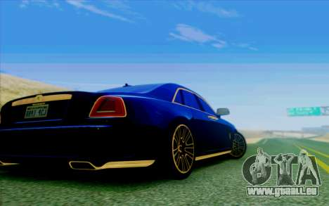 Rolls-Royce Ghost Mansory für GTA San Andreas Innenansicht