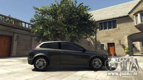 GTA 5 Volvo C30 Unmarked Police vue latérale gauche