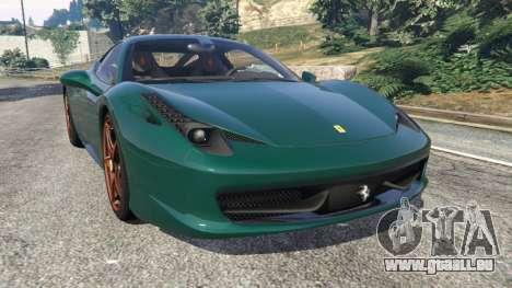 Ferrari 458 Italia 2009 v1.5 für GTA 5