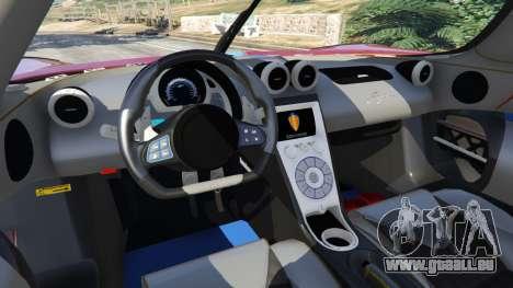 GTA 5 Koenigsegg Agera v0.8.5 [Early Beta] hinten rechts