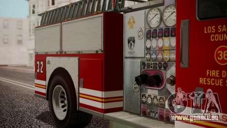 GTA 5 MTL Firetruck IVF für GTA San Andreas rechten Ansicht