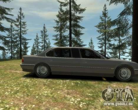 BMW L7 (750IL E38) 2001 pour GTA 4 Vue arrière