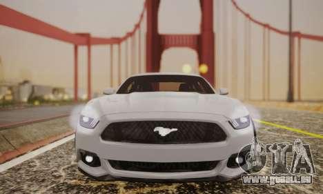 Ford Mustang GT 2015 Stock für GTA San Andreas Rückansicht