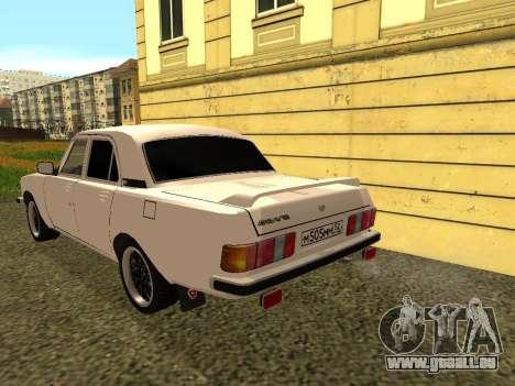 GAZ 3102 Volga für GTA San Andreas zurück linke Ansicht