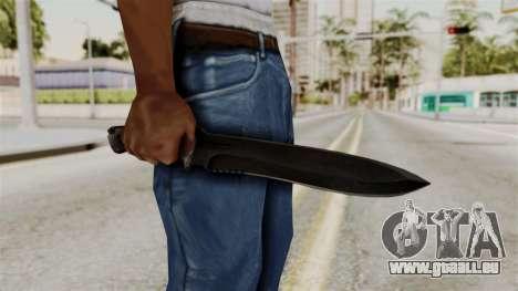 Knife from RE6 pour GTA San Andreas troisième écran
