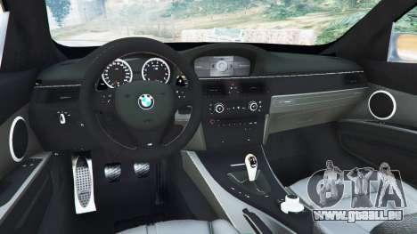 GTA 5 BMW M3 (E92) WideBody v1.0 hinten rechts