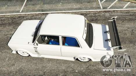GTA 5 VAZ-2107 Redline 61 vue arrière