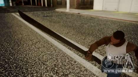 Machete from Friday the 13th Movie pour GTA San Andreas troisième écran