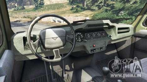 GTA 5 UAZ-3159 bars [Beta] arrière droit vue de côté