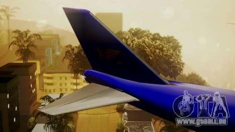 Boeing 747-200 Trans GTA Air für GTA San Andreas zurück linke Ansicht