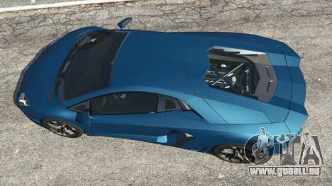 GTA 5 Lamborghini Aventador LP700-4 v2.1 Rückansicht