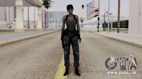 Resident Evil Remake HD - Jill Valentine (Army) für GTA San Andreas zweiten Screenshot