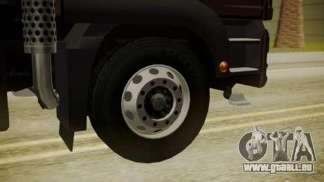 MAN TGS 8x4 Dumper für GTA San Andreas zurück linke Ansicht