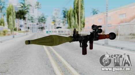 Rocket Launcher from RE6 pour GTA San Andreas deuxième écran