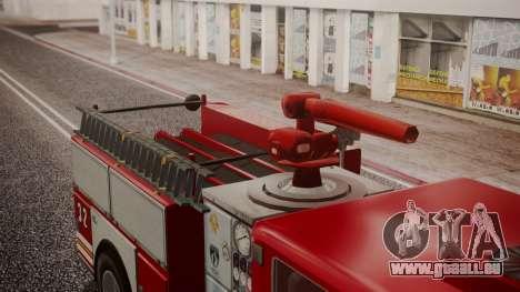 GTA 5 MTL Firetruck IVF für GTA San Andreas Rückansicht