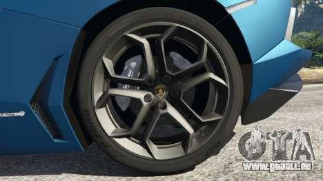 GTA 5 Lamborghini Aventador LP700-4 v2.1 hinten rechts