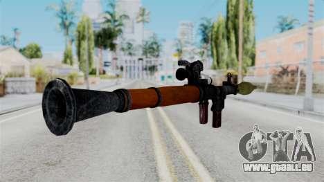 Rocket Launcher from RE6 pour GTA San Andreas troisième écran