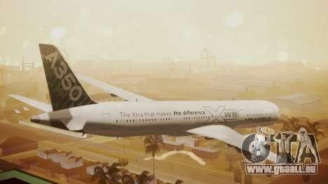 Airbus 350-900XWB Around The World pour GTA San Andreas laissé vue