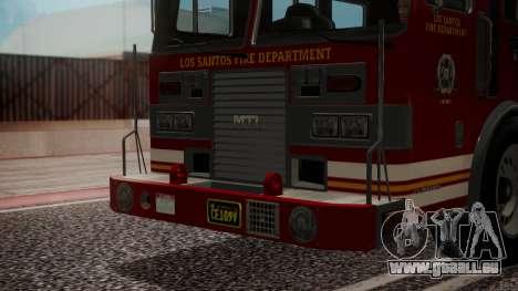 GTA 5 MTL Firetruck IVF für GTA San Andreas Innenansicht