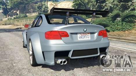 GTA 5 BMW M3 (E92) WideBody v1.0 hinten links Seitenansicht
