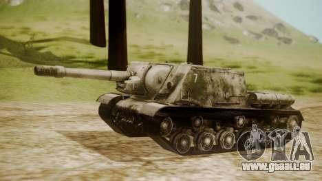 ISU-152 Snow from World of Tanks für GTA San Andreas