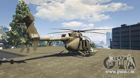 GTA 5 MH-6/AH-6 Little Bird Marine quatrième capture d'écran